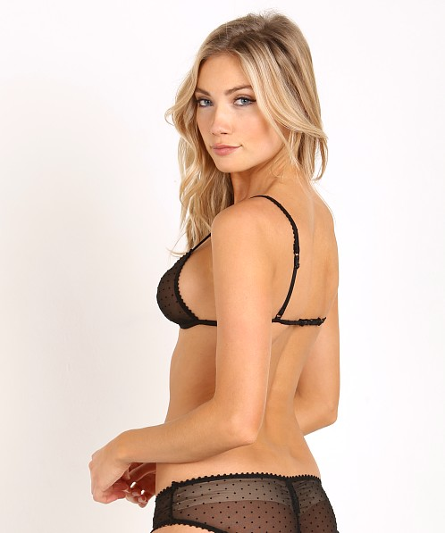 Maison Close Rue Des Demoislles Triangle Bra Black