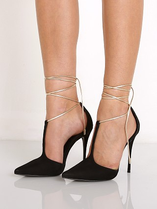 Schutz Miley Lace Up Heel Black