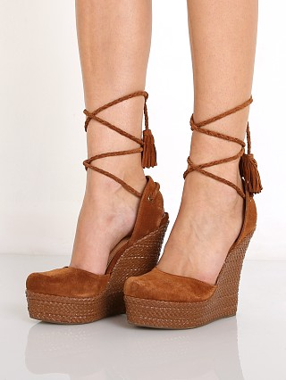 Schutz Eleanor Lace Up Wedge Wood