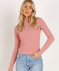 LACAUSA Sweater Rib Turtle Neck Strawberry, view 2