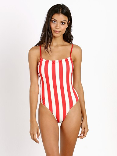 Solid & Striped The Chelsea One Piece Cherry Stripe