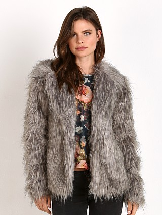Show Me Your Mumu Park Ave Jacket Silver Fox Faux Fur