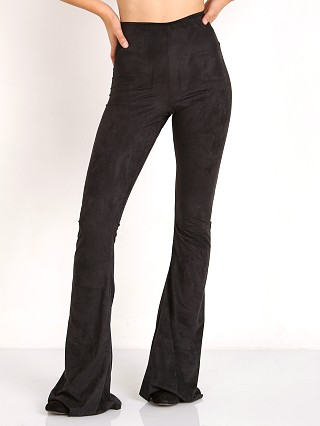 Show Me Your Mumu Bam Bam Bells Black Stretch Suede