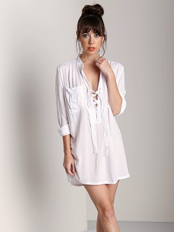 Indah Medina Lace Up Tunic White