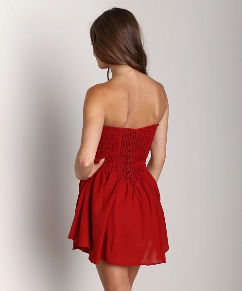 684600b47f03 Indah Wren Strapless Pleated Mini Dress Shiraz Wren-SLX13 - Free Shipping  at Largo Drive