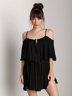 Indah Zhinea Flounce Dress Black