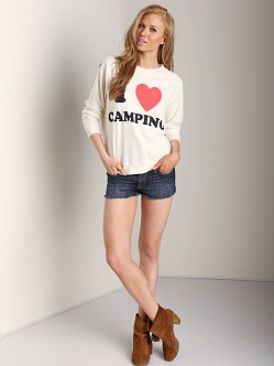 WILDFOX I Luv Camping Kim's Sweater Vintage Lace