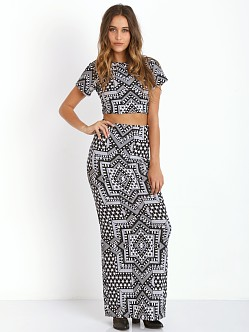 Mara Hoffman Crop Top Jacquard Star