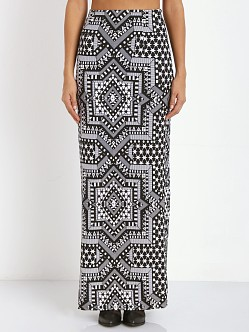 Mara Hoffman High Waisted Maxi Skirt Jacquard Star