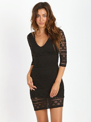 Nightcap Cherokee Deep V Dress Black