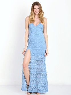 Nightcap Cherokee High Slit Gown Powder Blue