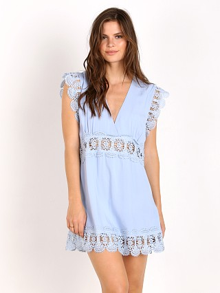 Suboo Stevie Lace Insert Mini Dress Ice Blue