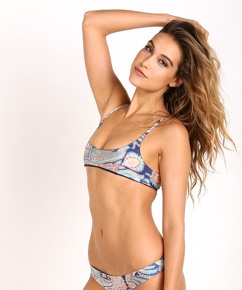 Suboo The Kasbah Reversible Bikini Top Print/Navy