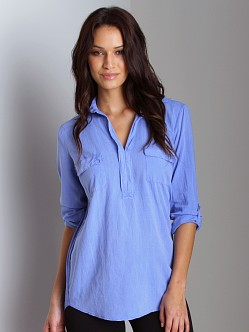 Splendid Shirting Long Sleeve Top Blue Crush