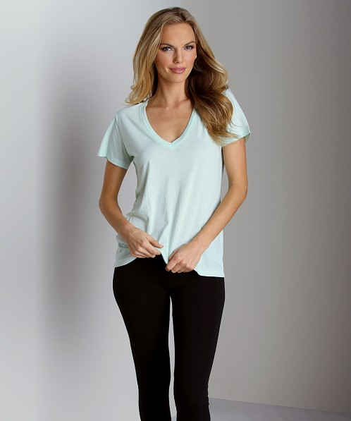Splendid Very Light Jersey V Neck T-Shirt Julep