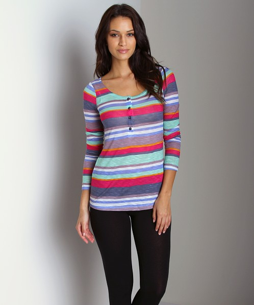 Splendid Pensacola Stripe Henley Dewberry