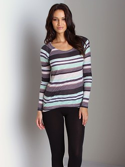 Splendid Pensacola Stripe Long Sleeve Mint Chip