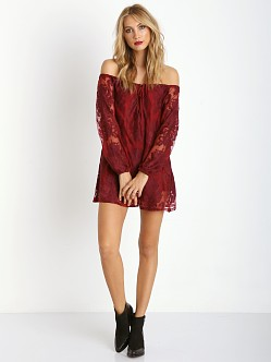 For Love & Lemons Sangria Dress Crimson