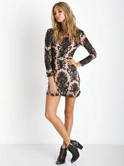 For Love & Lemons Night to Remember Mini Dress Black/Nude