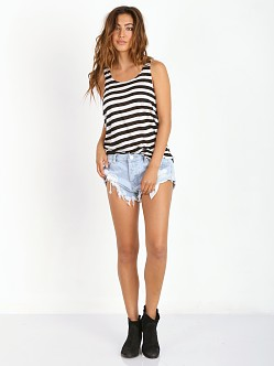 One Teaspoon Chalet Stripe Top Black/White
