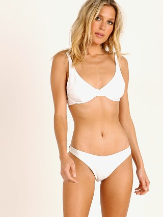 Model in white Rhythm. Maldives Underwire Bikini Top