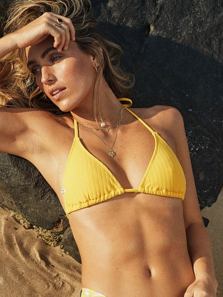 Model in sundream Rhythm. Tulum Slide Tri Bikini Top