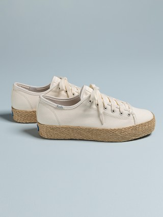 Keds Triple Kick Canvas with Jute Sneakers White