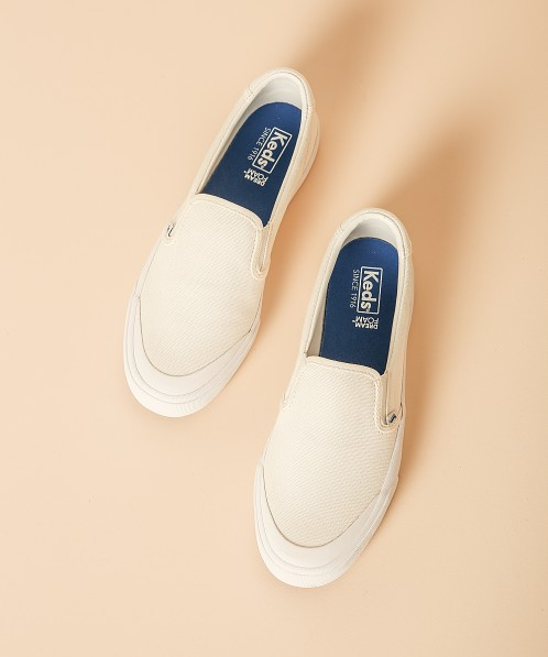 Keds Crew Kick 75 Slip On Canvas Sneaker White