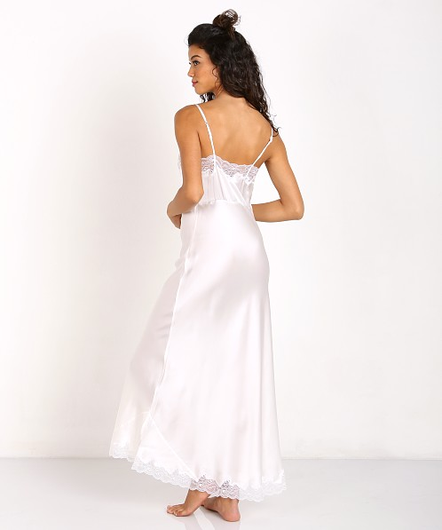 Only Hearts Silk Charmeuse Long Slip Antique White