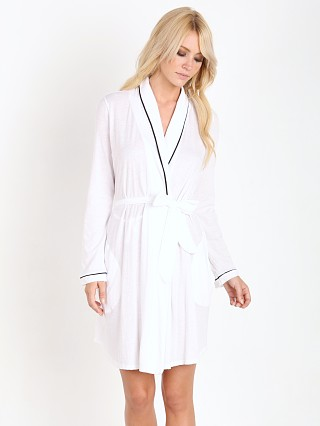 Only Hearts Organic Cotton Short Robe White/Black