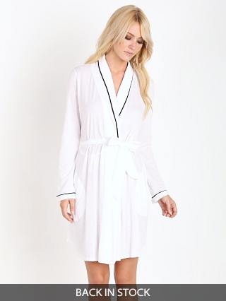 15309daed6 Only Hearts Organic Cotton Short Robe White Black