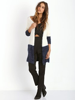For Love & Lemons KNITZ Ski Lodge Cardigan Navy