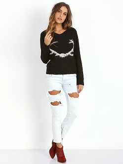 For Love & Lemons KNITZ Antler Sweater Black