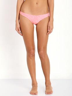 Lolli Swim Basic Clean Bikini Bottom Hot Coral