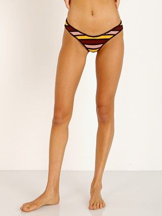 Indah Victoria Knit 80s Bikini Bottom Sunset Stripe