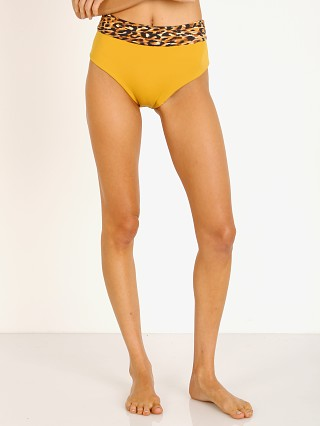 Complete the look: Indah Tina High Waisted 90s Bikini Bottom Mustard with Cheetah