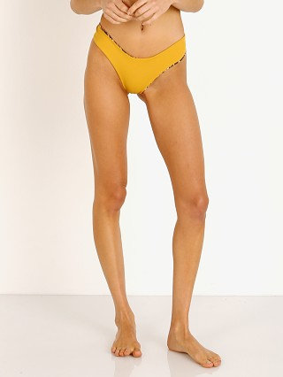 Complete the look: Indah Cruz High Cut Bikini Bottom Mustard with Cheetah Lining