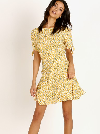 Faithfull the Brand Daphne Dress Marguerite Yellow Floral