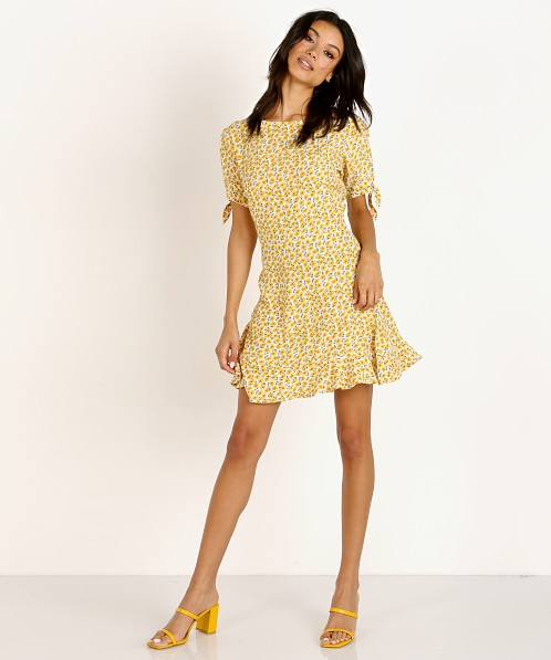 8f62f5982dc5 Faithfull the Brand Daphne Dress Marguerite Yellow Floral FF1323-MFY - Free  Shipping at Largo Drive