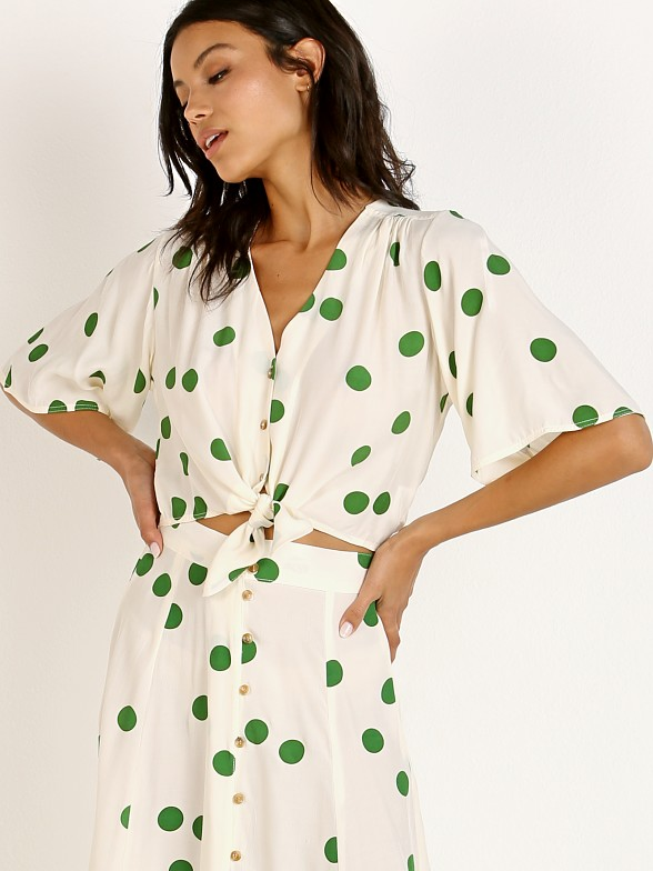 Faithfull the Brand Boulevards Top Lolita Green Dot
