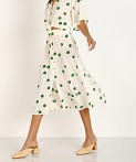 Faithfull the Brand Marin Skirt Lolita Green Dot, view 2
