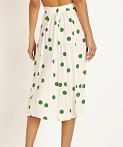 Faithfull the Brand Marin Skirt Lolita Green Dot, view 4