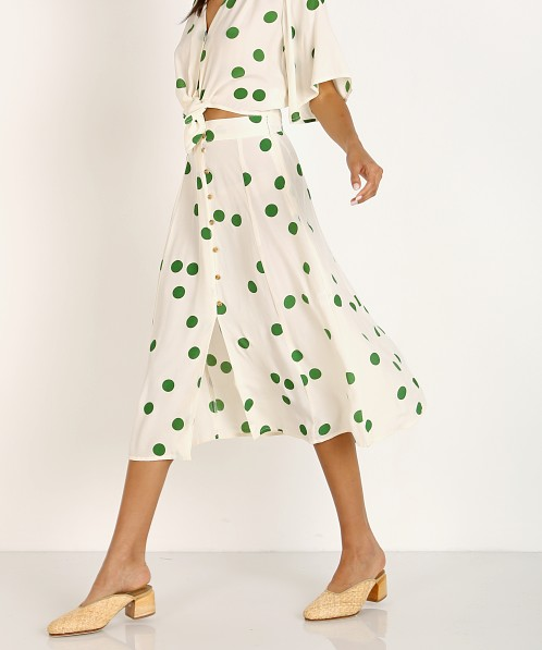 Faithfull the Brand Marin Skirt Lolita Green Dot