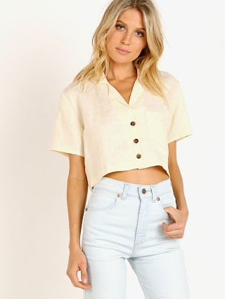 Model in plain cream Faithfull the Brand Uma Shirt