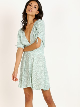 Faithfull the Brand Marianne Mini Dress Kaia Seafoam Floral