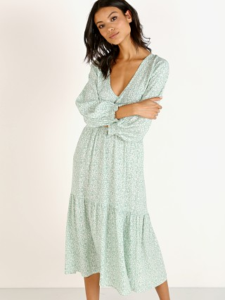 Faithfull the Brand Les Fleur Midi Dress Kaia Seafoam Floral
