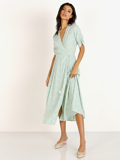 Faithfull the Brand Chiara Midi Dress Kaia Seafoam Floral