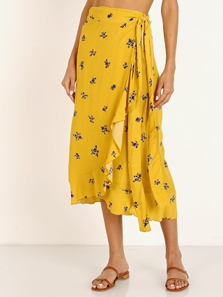 Faithfull the Brand Celeste Skirt Dolores Yellow Floral