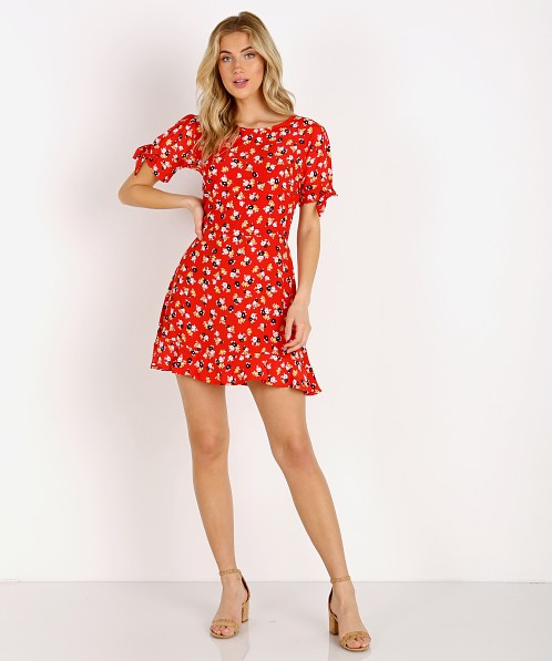 Faithfull the Brand Daphne Dress Jasmine Red