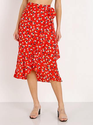 Faithfull the Brand Celeste Wrap Skirt Jasmine Red